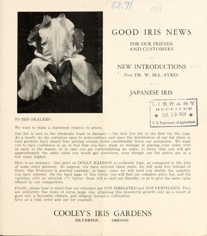 Cooleys1931SpringCatalog
